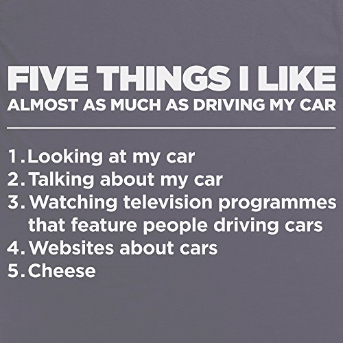 Five Things I Like - Cars T Shirt, Herren Anthrazit