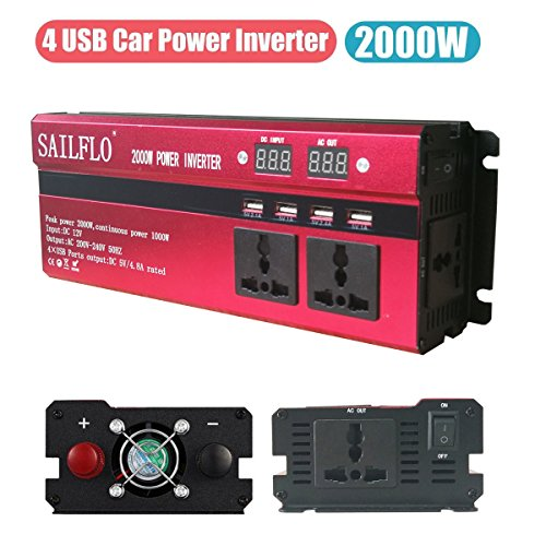 """Please use battery clips when using inverter on device over 150W.  Cigarette lighter sockets provide a total power 150W, Cigarette lighter adapter can not power laser printer.  This inverter is with """"modified sine wave"""" that's perfectly fine for res..."""