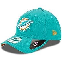New Era 9forty - Gorra con ajuste trasero, diseño de la liga NFL, Unisex, Miami Dolphins #2705, OSFM (One Size fits most)