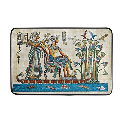 jstel Vintage Ägypten Art-Fußmatte waschbar Garten Büro Fußmatte, Küche ESS-Living Badezimmer Pet Eintrag Teppiche mit Rutschfeste Unterseite 59,9x 39,9cm