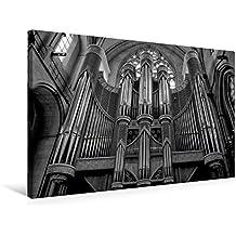 Premium Textil-Leinwand 75 cm x 50 cm quer, Orgel im St. Paulus Dom   Wandbild, Bild auf Keilrahmen, Fertigbild auf echter Leinwand, Leinwanddruck: Münster in schwarz und weiß (CALVENDO Orte)