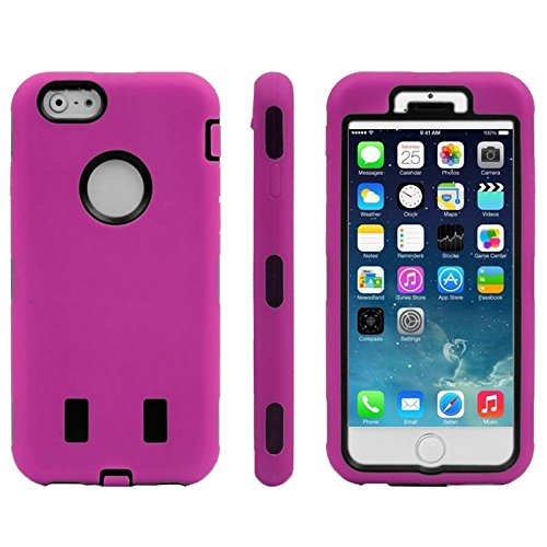 Wkae Case & Cover Silicone Case Combinaison + plastique pour iPhone 6 &6S ( Color : Magenta ) Magenta