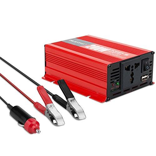 Inversor Corriente 200W Convertidor Corriente 12V