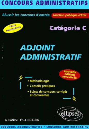 Adjoint administratif catgorie C