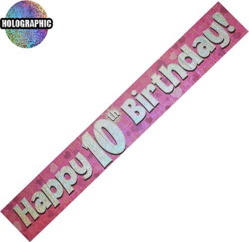 Preisvergleich Produktbild Every-occasion-party-supplies Alter 10 Alles Gute zum Geburtstag banner Mädchen (oak girl)
