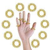 10 x Akupressur Massageringe in gold groß