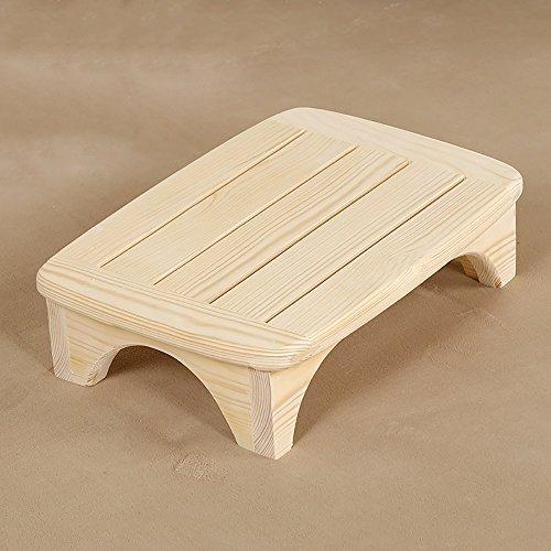 LJHA Tabouret pliable Repose-pieds en bois solide/tabouret de chevet/pédale de salle de bain/tabouret pédaler tabouret/repose-pieds de bureau chaise patchwork (Couleur : B, taille : 12 * 45cm)