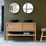 Unbekannt Tikamoon Arty Waschtisch Badezimmer, Teak, beige, 120x 47x 80cm