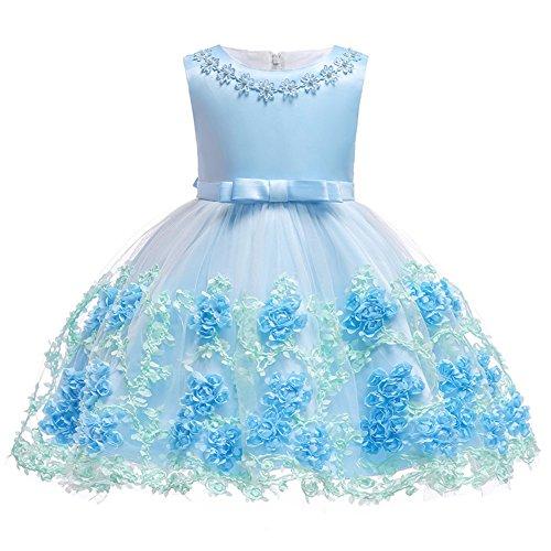 FYMNSI Baby Partykleid Blumenmächen Hochzeitskleid Brautjungfer Kleid Kleinkinder Mächen Tutu Prinzessin Abendkleid Babykleid Geburtstagskleid Festkleider Taufkleid Schleife Festlich Festzug Kleidung