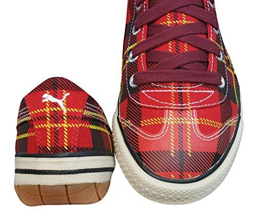 Puma 917 Lo Tartan Baskets Femme red