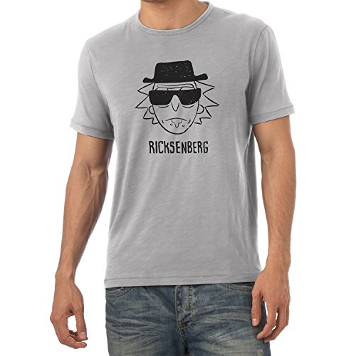NERDO - Ricksenberg - Herren T-Shirt, Größe L, grau meliert (Jungen Rick Kostüm)