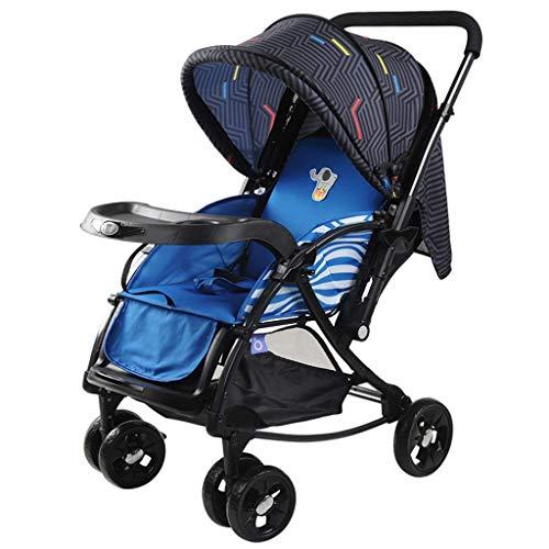 Erweitern Sie Trolley (XYQ Kinderwagen-Baby Trolley Blau/Rot Leichte Faltbare Kann Sit/Lie Trolley Baumwolle Kissen Erweitern Sie Den Körper Zwei-Wege-Push-Rod mit Korb Full Cover Markise Anti-UV Kinderwagen 51 * 83 *)