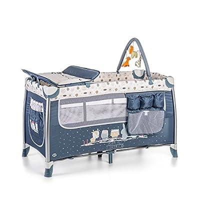 Ms Cuna de Viaje Complet Plus Aluminio Azul ref. 630301 + Colchón de Regalo