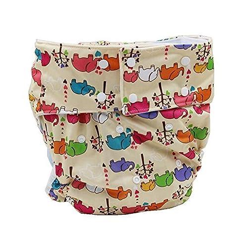 lukloy–Erwachsene Tuch Windeln mit 1Einsatz für Inkontinenz Care–Dual Opening Pocket waschbar verstellbar wiederverwendbar leakfree