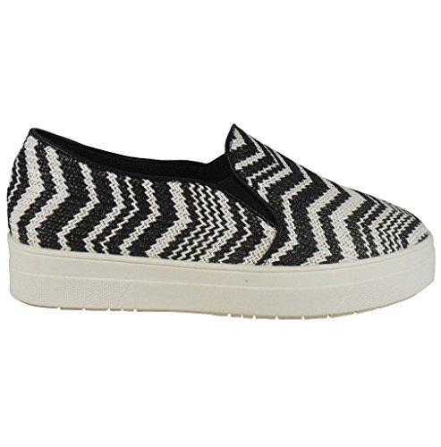 Loudlook Neuer Frauen-Dame-M?dchen Chelsea Wohnung Slip On Fashion Flatforms Pumps Schuhe Gr??e 3-8 Black