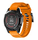 ESAILQ Smart Armband für Garmin Fenix 5 GPS Watch, Ersatz Silicagel Soft Band Strap Für Garmin Fenix 5 GPS Watch (Orange)
