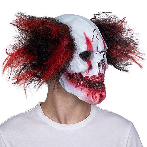 HBWJSH Masken-Tanz Halloween-weißer Maske erwachsener männlicher voller Gesichtshorror 骷髅 Teufellatex-Haubenspoof furchtsamer