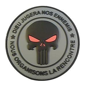 Punisher DIEU JUGERA NOS ENNEMIS DEVGRU Morale PVC 3D Velcro Écusson Patch