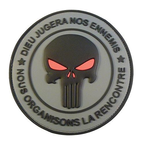 Punisher DIEU JUGERA NOS ENNEMIS DEVGRU Morale PVC 3D Fastener Écusson Patch