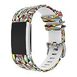 Magiyard Fitbit Charge 2 Bracelet de rechange souple en silicone ajustable, pour le sport Multicolore C