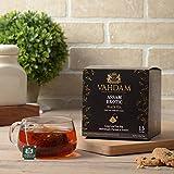 Assam Schwarzer Tee - 30 Pyramiden-Teebeutel, Long Leaf Assam Teebeutel - Reich & Malzig - Frühstückstee Teebeutel, FTGFOP1 Grade, 100 % Zertifizierter Reiner Ungemischter Assam Tee Loose Leaf (2 Boxen, je 15 Teebeutel)