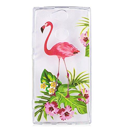 Cozy Hut Hülle für Sony Xperia XA2 Ultra, Ultra Dünne Matte TPU Silikon Handyhülle, Anti-Scratch Anti-Shock Schutzhülle, geeignet für Sony Xperia XA2 Ultra - Rosa Flamingo