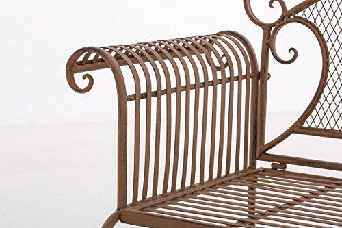 CLP Gartenbank RIKE aus lackiertem Eisen I Sitzbank