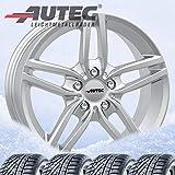 4 Winterräder Autec Kitano 7x16 ET40 5x120 Brillantsilber mit 205/55 R16 91H Continental WinterContact TS 860 für BMW 1er] 2er