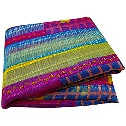 PEEGLI Tela Sari De La Manera De Las Mujeres Tela India Del Estilo Vendimia Sari Impreso Indio