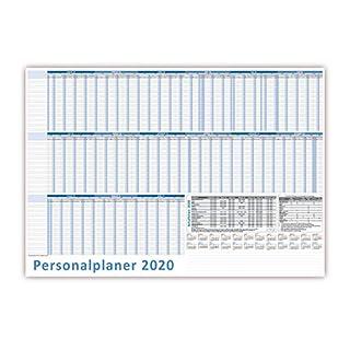 Urlaubsplaner DIN B1 2020 Personalplaner Format (1000 x 700 mm) bis 22 Mitarbeiter mit Schulferien (gerollt!)