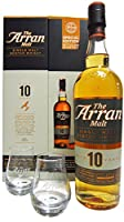 The Arran 10 Year Old Single Malt Scotch Whisky Gift Pack with Glasses from The Arran