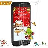 [3-Unidades] Protector de Pantalla iPhone 7/ 8 / 6s / 6,ONSON Cristal Vidrio Templado Premium Para Apple iPhone 7 / 8 / iPhone 6s / iPhone 6 [9H Dureza][Alta Definicion 0.33mm] [3D Touch Compatibles