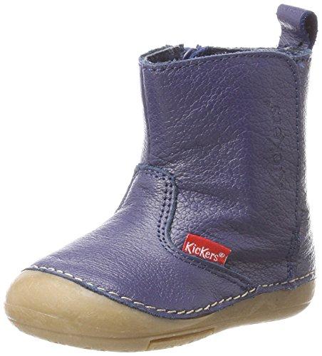Kickers Baby Jungen Socool Klassische Stiefel, Blau (Marine), 19 EU (Super-reißverschluss-stiefel)