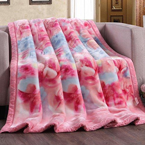 BDUK Raschel Decke mit warmen Einzelzimmer Doppelzimmer Coral Decke Herbst Winter Quilt Studenten Decken