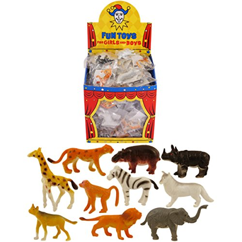 Mini Jungle Animal Figurines - Single Assorted by Partyrama (Strümpfe Bulk Mini)
