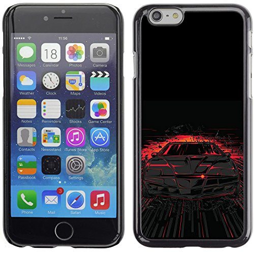 Image of Coverup Center Premium Printing Hard Case Skin Cover for Apple iPhone 6 4.7 Inch - Cool Knight Rider Illustration KITT