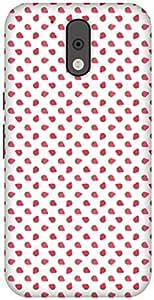 The Racoon Grip printed designer hard back mobile phone case cover for Motorola Moto G 4th Gen. (Strawberry)