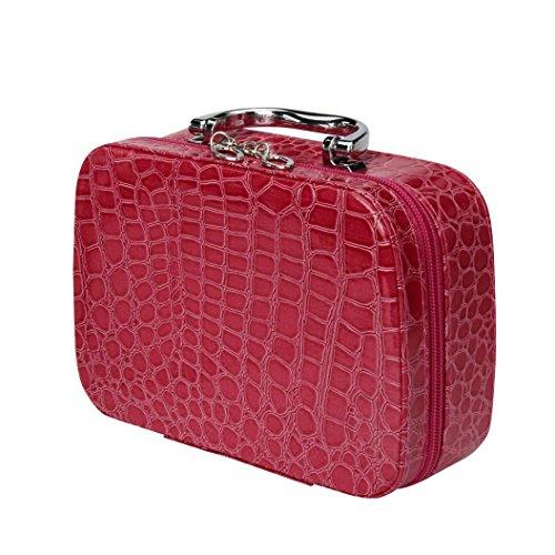 overmal-maquillage-de-stockage-sac-case-boite-a-bijoux-en-cuir-travel-cosmetic-organizer-rose-vif