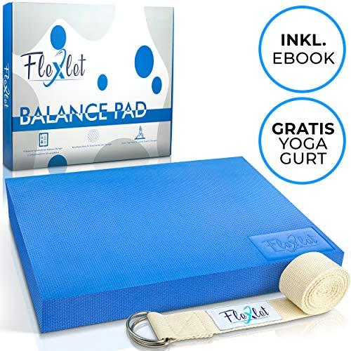 Flexlet ® Balance Pad - Mit Gratis Fitnessband - Inklusive E-Book mit zusätzlichen Übungen - Gleichgewichtstrainer mit rutschfestem Boden - Balance Kissen für effektives Balancetraining