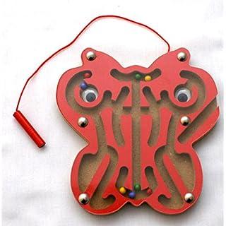 AeMBe - Holz Magnetic Spielzeug - Roter Schmetterling - Legespiel Lernspiel / Holz Spielzeug / Gedächtnisspiel für Kinder - Legespiel Anlegen - Motoric Übungen
