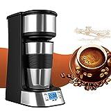 Kaffeemaschine, PYRUS Einzel Tasse Kaffee Persönliche Kaffeemaschine Eine Tasse mit Kaffeetasse Travel Coffee Dripper Kaffeemaschine mit gemahlenem Kaffee oder Kaffeepads (einzelne Tasse)