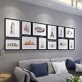 WUXK Große Größe Foto Wand des minimalistischen modernen Kinder Zimmer kreative Bilderrahmen Wand Foto Wohnwand Wohnzimmer Schlafzimmer 4