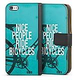 Apple iPhone 5c Étui Étui Folio Étui magnétique Nice People Ride Bicycles