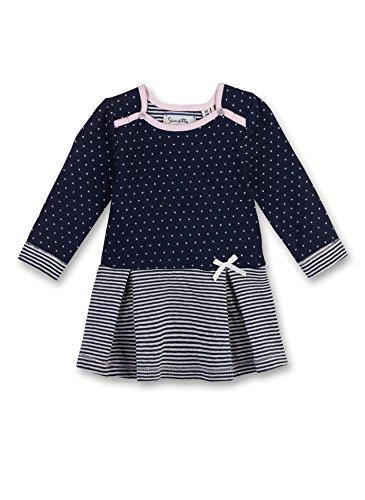Sanetta Baby-Mädchen Kleid 906349 Blau (Deep Blue 5993), (Kleid 80)