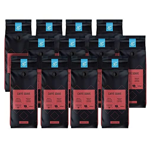 "Amazon Brand – Happy Belly Coffee Beans ""Caffè Soave"" (12 x 500g)"