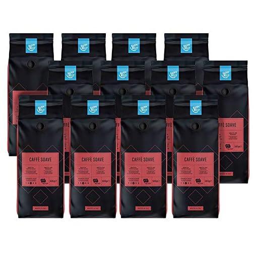 "Amazon Brand – Happy Belly Coffee Beans ""Caffè Soave"" (12 x 500g)"