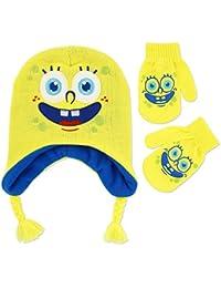 Nickelodeon Big Boys' Spongebob Hat and Glove Set