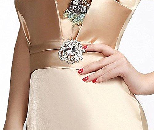 Drasawee Damen Schlauch Kleid Gold
