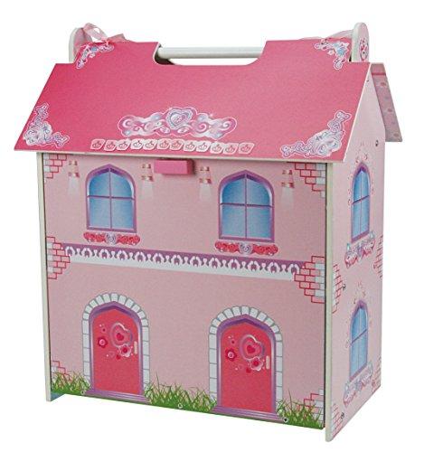 Foto de Un B Gee tx1092pequeña casa de muñecas de madera con muebles