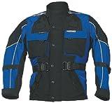 Roleff Chaqueta de Motorista para Niños Racewear, Negro/Azul, S/128